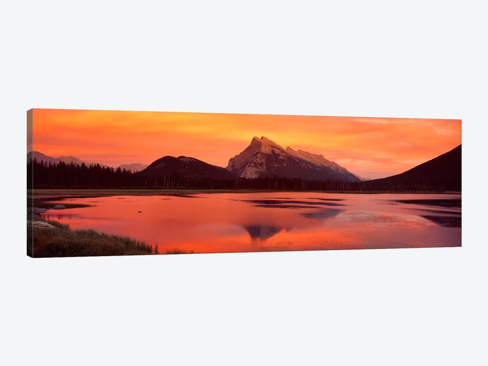 Mt Rundle & Vermillion Lakes Banff National Park Alberta Canada by Panoramic Images 1-piece Canvas Art