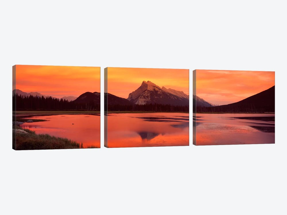 Mt Rundle & Vermillion Lakes Banff National Park Alberta Canada by Panoramic Images 3-piece Canvas Art