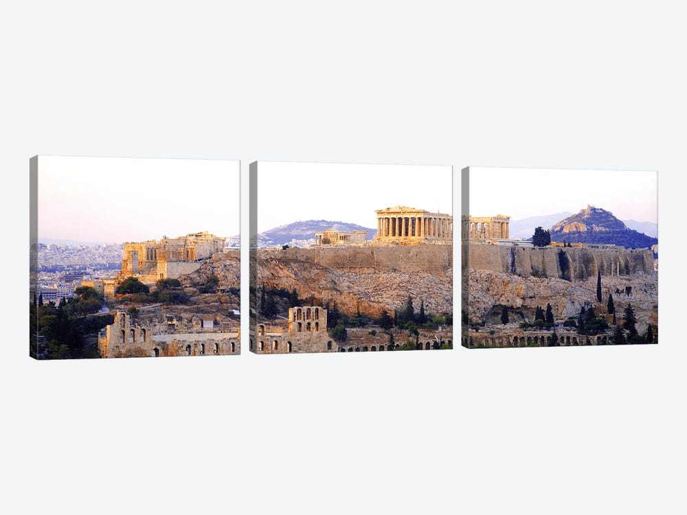 Acropolis Of Athens, Athens, Attica Region, Greece by Panoramic Images 3-piece Art Print