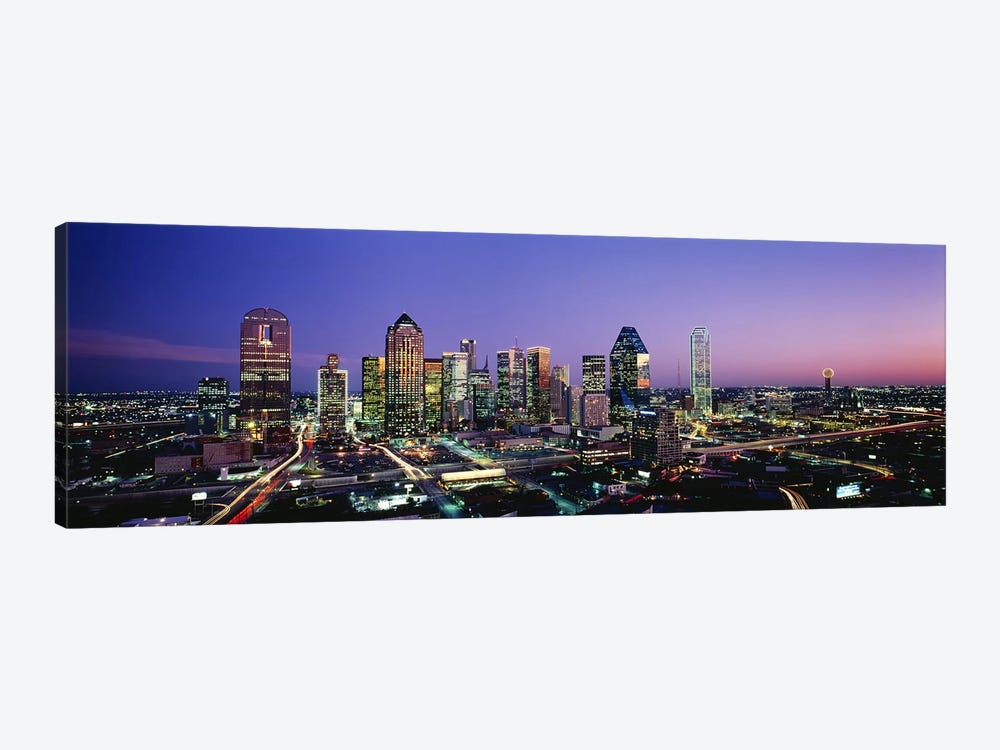 NightDallas, Texas, USA by Panoramic Images 1-piece Canvas Artwork