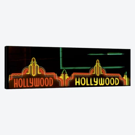 Hollywood Neon Sign Los Angeles CA Canvas Print #PIM3224} by Panoramic Images Canvas Art Print