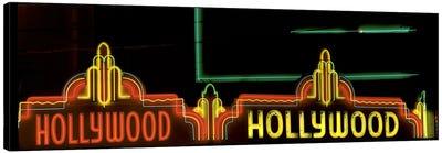Hollywood Neon Sign Los Angeles CA Canvas Art Print