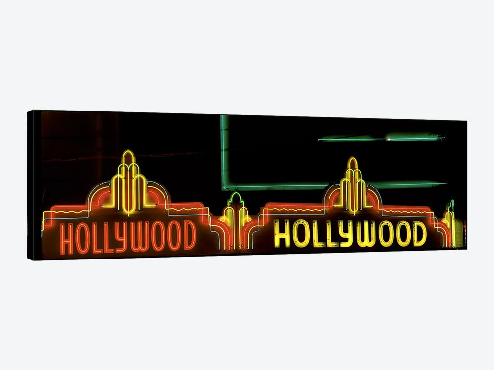 Hollywood Neon Sign Los Angeles CA by Panoramic Images 1-piece Canvas Art Print