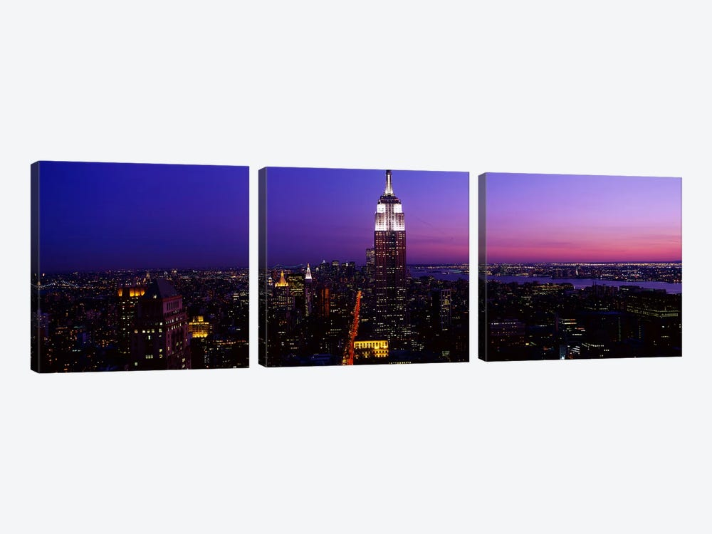 New York NY 3-piece Canvas Wall Art