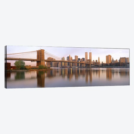 Brooklyn Bridge Manhattan New York City NY Canvas Print #PIM3227} by Panoramic Images Canvas Art Print