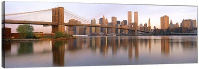 Brooklyn Bridge Manhattan New York City NY Canvas Print #PIM3227