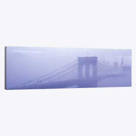 Brooklyn Bridge New York NY Canvas Print #PIM3228} by Panoramic Images Canvas Wall Art