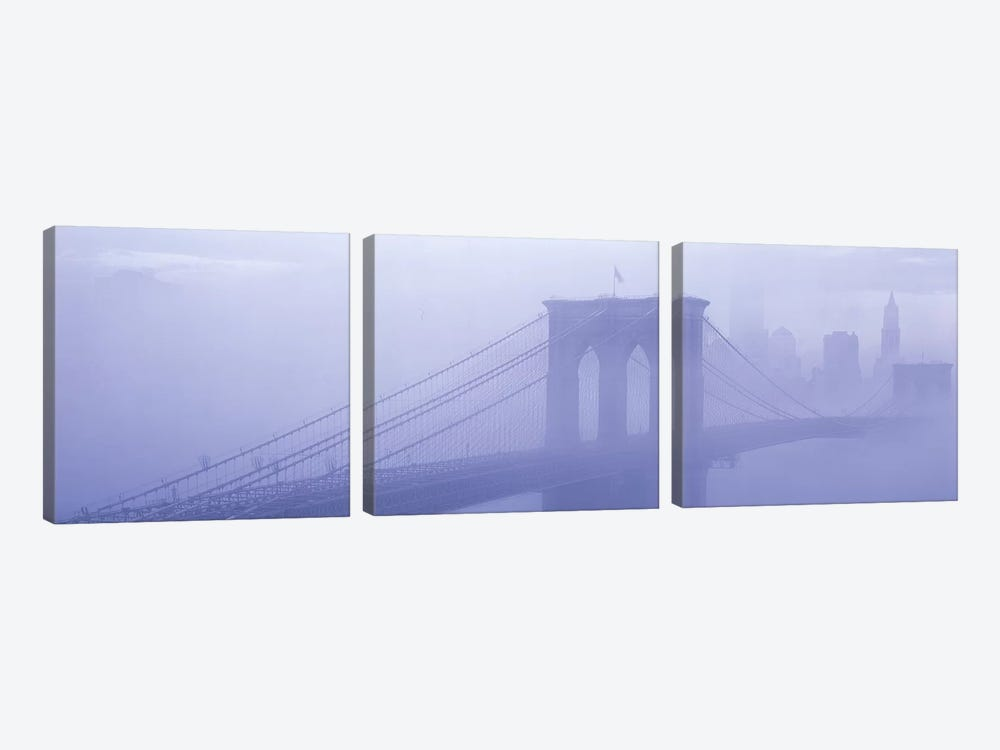 Brooklyn Bridge New York NY by Panoramic Images 3-piece Canvas Art Print