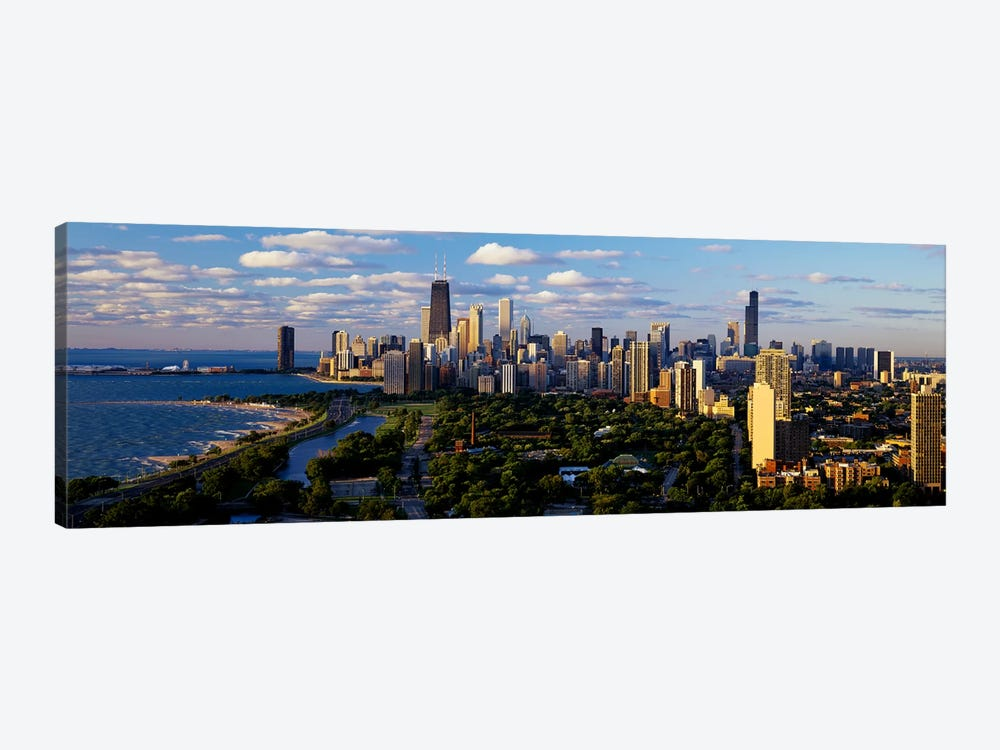 Chicago IL 1-piece Canvas Wall Art