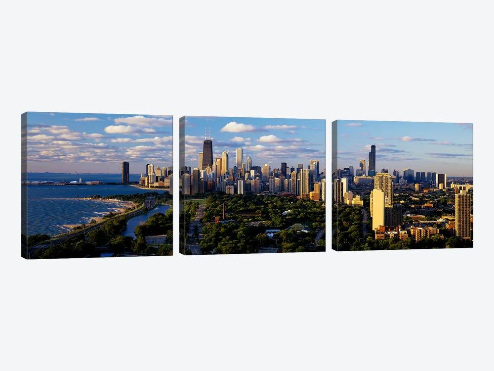 Chicago IL 3-piece Canvas Wall Art
