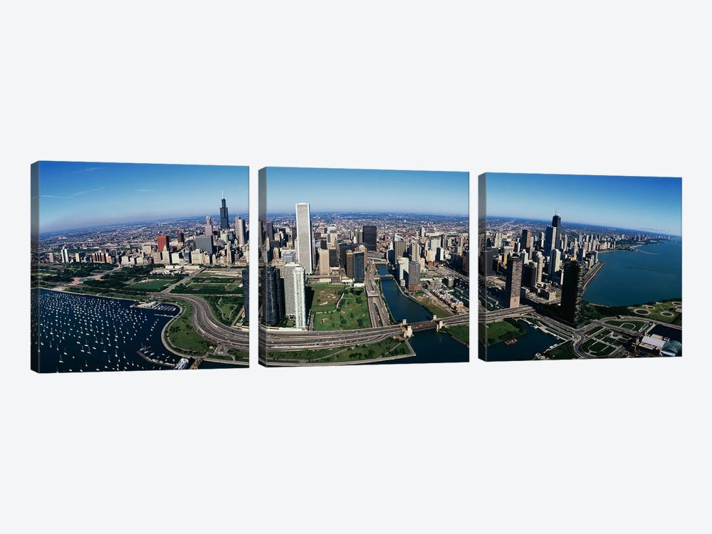 Chicago IL by Panoramic Images 3-piece Canvas Artwork
