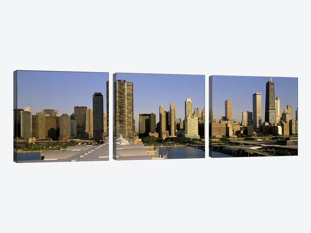 Chicago IL by Panoramic Images 3-piece Canvas Print