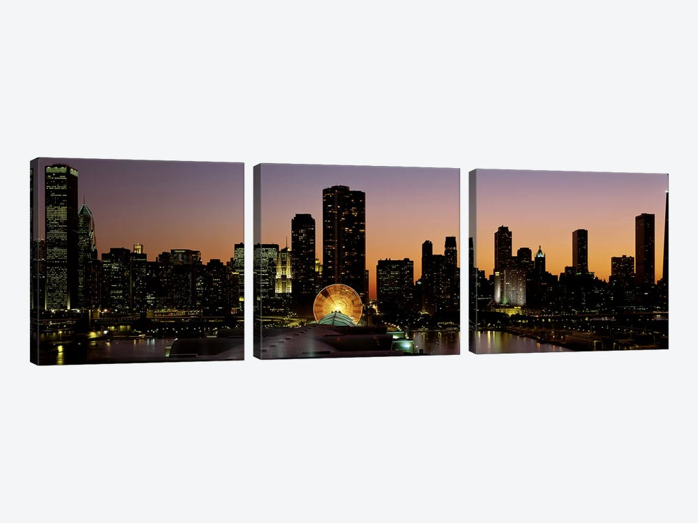 ChicagoIllinois, USA by Panoramic Images 3-piece Canvas Art Print