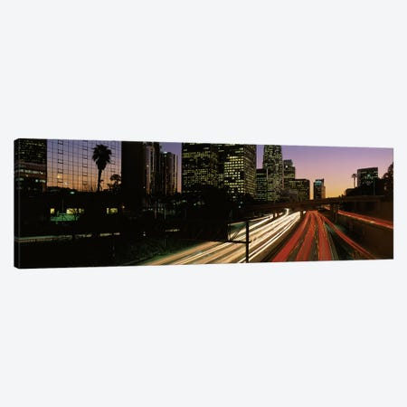 Harbor Freeway Los Angeles CA Canvas Print #PIM3236} by Panoramic Images Canvas Wall Art