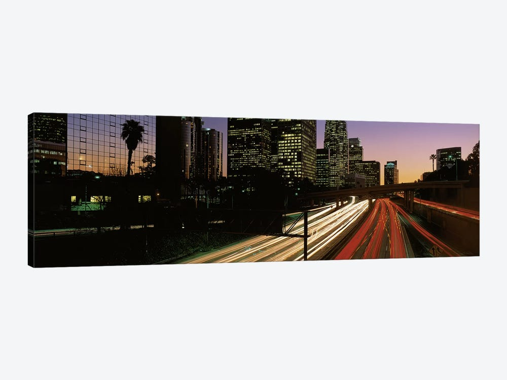 Harbor Freeway Los Angeles CA by Panoramic Images 1-piece Canvas Wall Art