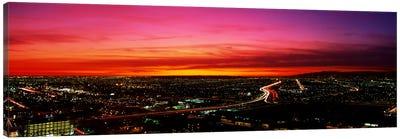 Aerial Los Angeles CA Canvas Print #PIM3237