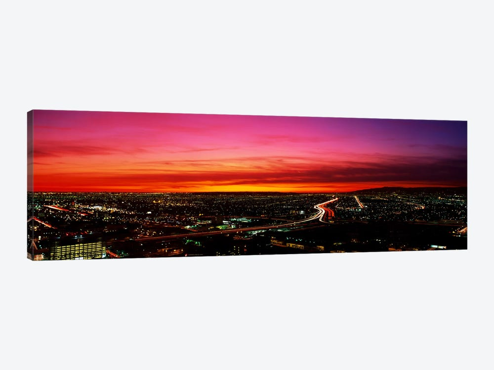 Aerial Los Angeles CA by Panoramic Images 1-piece Canvas Print