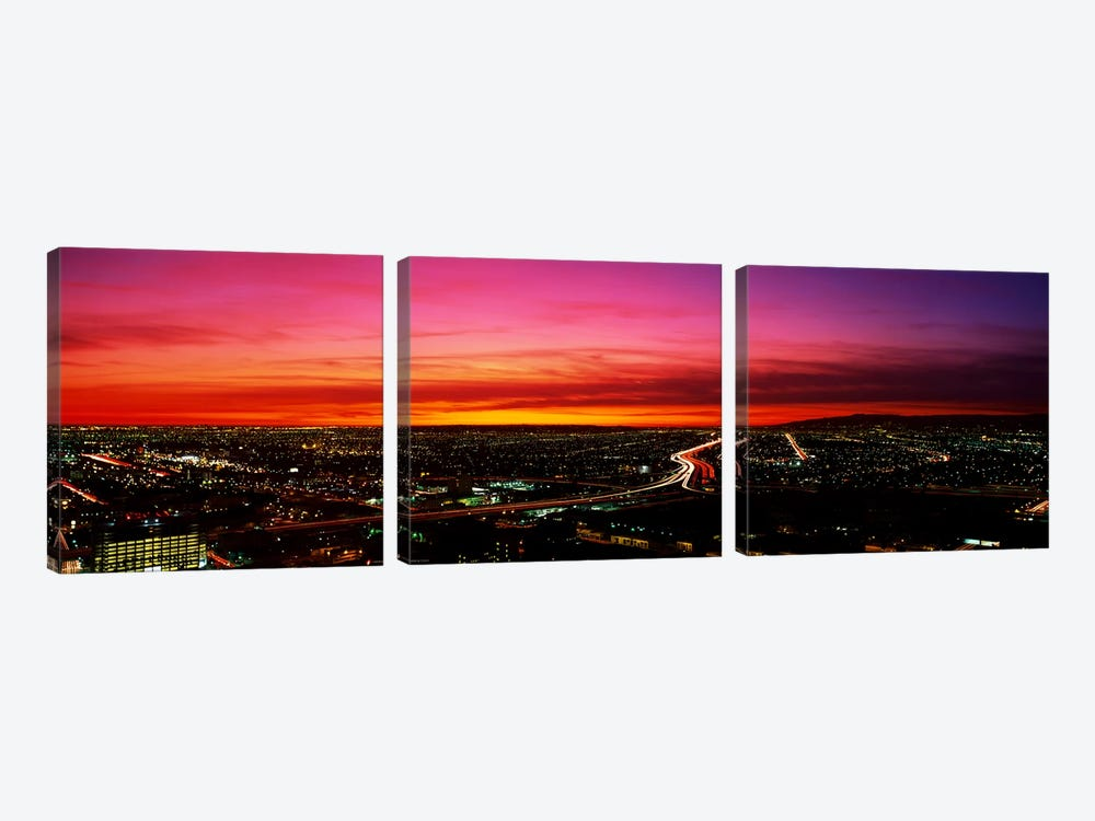 Aerial Los Angeles CA by Panoramic Images 3-piece Canvas Art Print