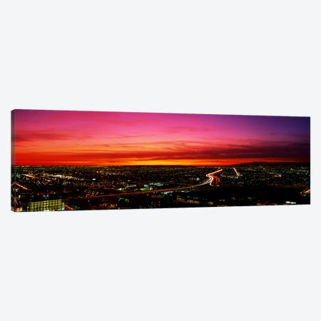 Aerial Los Angeles CA Canvas Print #PIM3237} by Panoramic Images Canvas Art