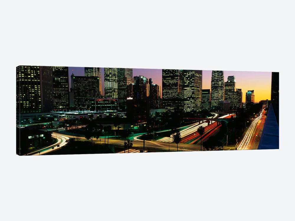 Harbor Freeway Los Angeles CA by Panoramic Images 1-piece Canvas Artwork