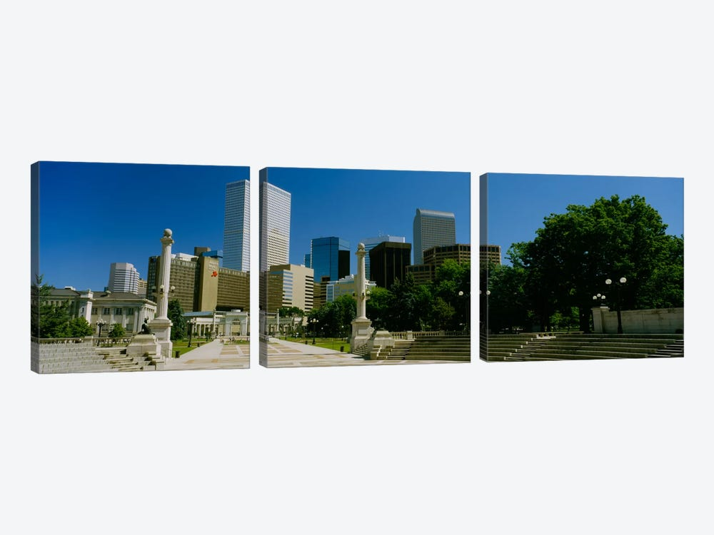 Buildings in a city, Denver, Colorado, USA #2 by Panoramic Images 3-piece Canvas Art Print