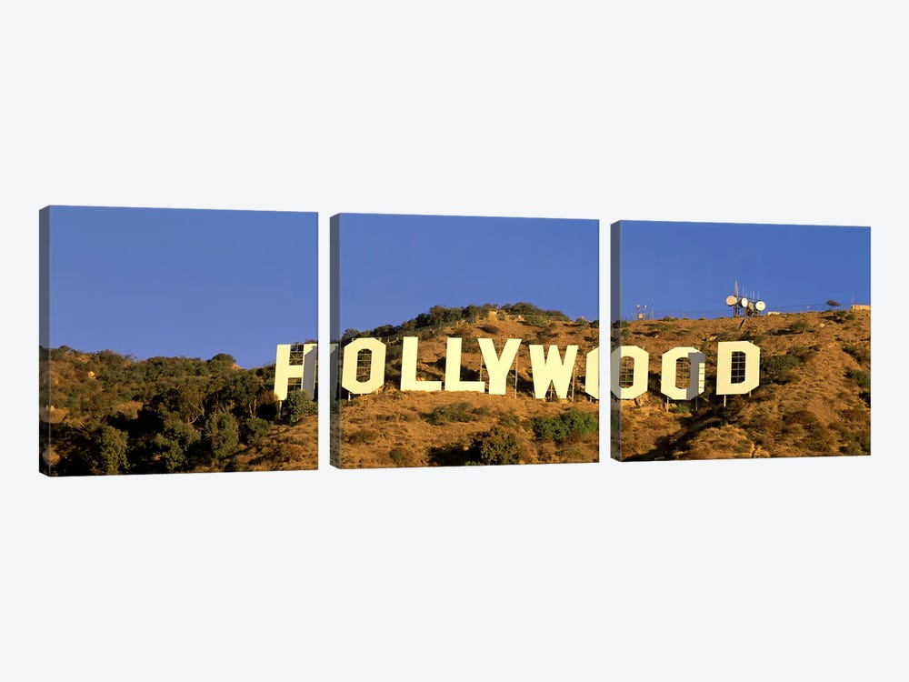 Hollywood Sign Los Angeles CA by Panoramic Images 3-piece Art Print
