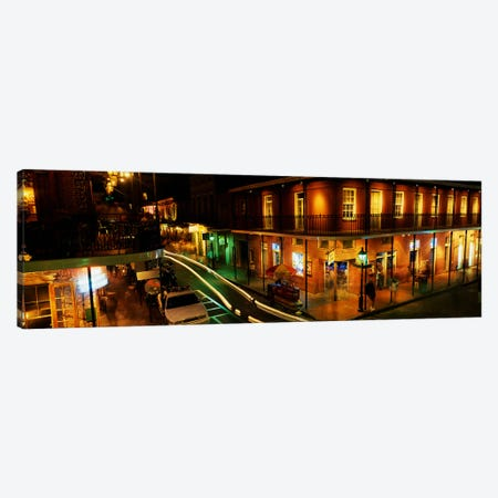 Bourbon Street New Orleans LA Canvas Print #PIM3241} by Panoramic Images Canvas Wall Art