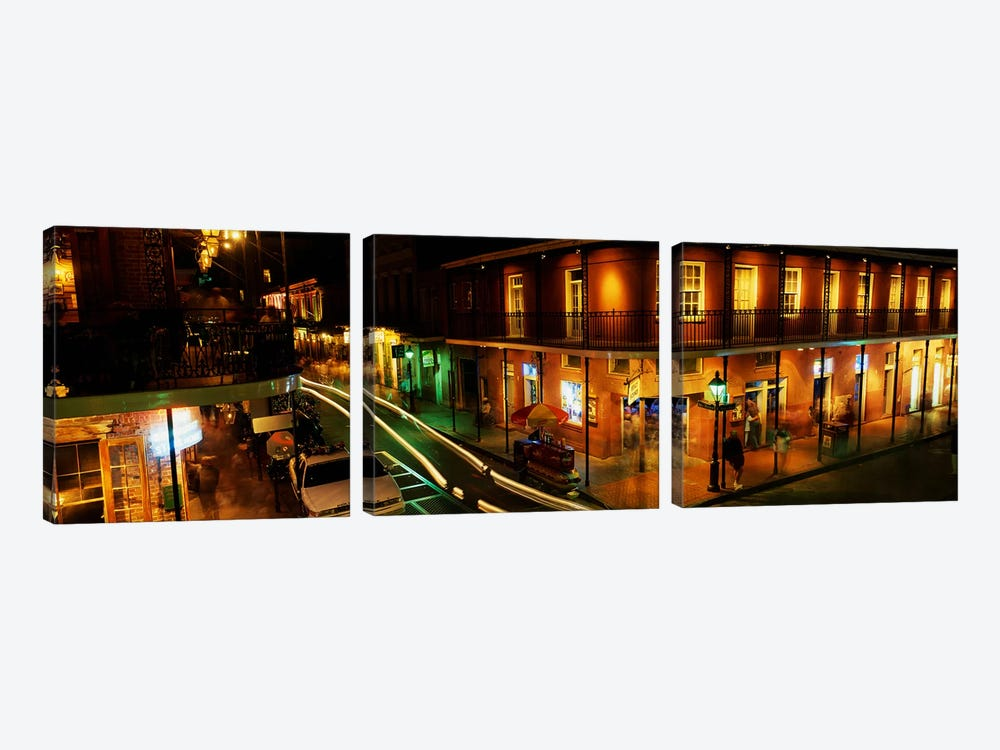 Bourbon Street New Orleans LA by Panoramic Images 3-piece Canvas Art