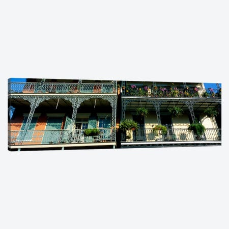 Bourbon Street New Orleans LA #2 Canvas Print #PIM3242} by Panoramic Images Canvas Artwork
