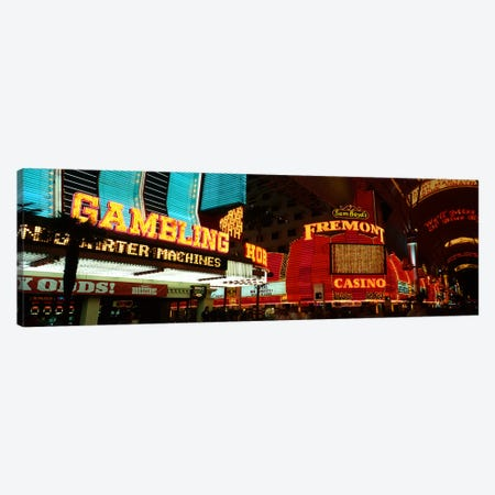 Fremont Street Experience Las Vegas NV Canvas Print #PIM3244} by Panoramic Images Canvas Art Print