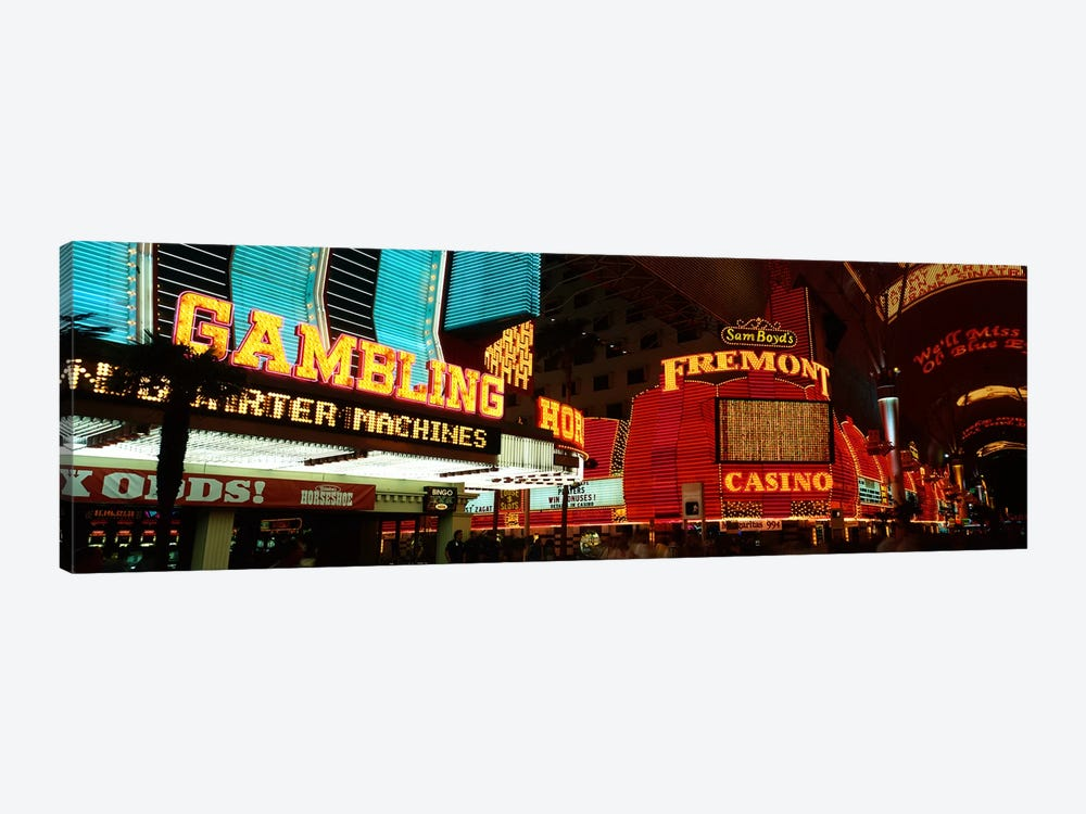 Fremont Street Experience Las Vegas NV by Panoramic Images 1-piece Art Print