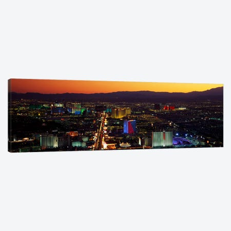 Hotels Las Vegas NV Canvas Print #PIM3246} by Panoramic Images Canvas Print