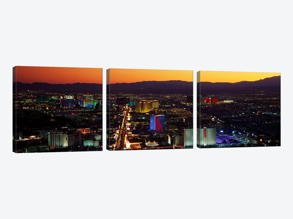 Hotels Las Vegas NV 3-piece Canvas Print