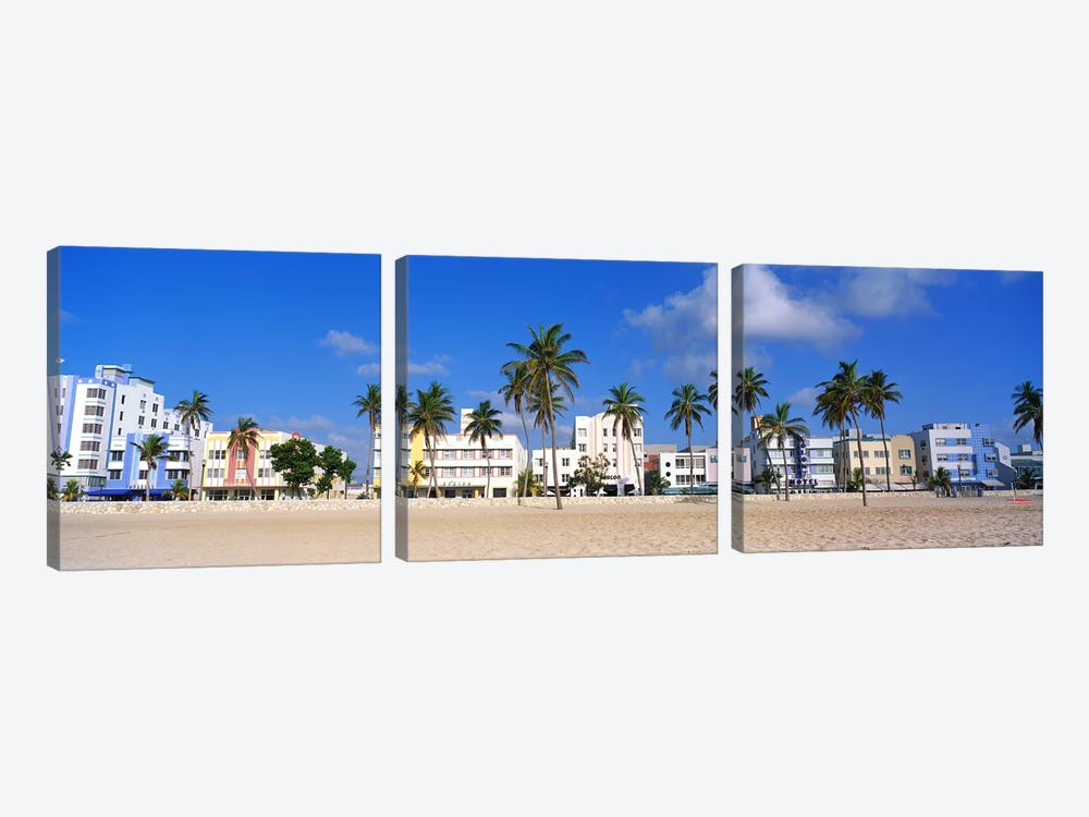 Miami Beach FL by Panoramic Images 3-piece Canvas Wall Art