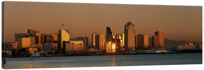 San Diego Skyline at Sunset Canvas Art Print