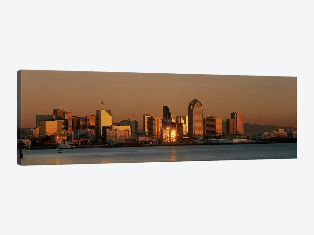San Diego Skyline at Sunset by Panoramic Images 1-piece Canvas Art