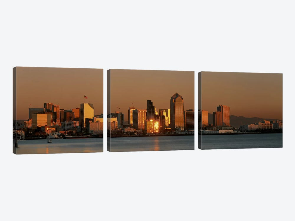 San Diego Skyline at Sunset by Panoramic Images 3-piece Canvas Art
