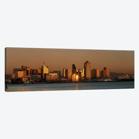 San Diego Skyline at Sunset Canvas Print #PIM3249} by Panoramic Images Canvas Art