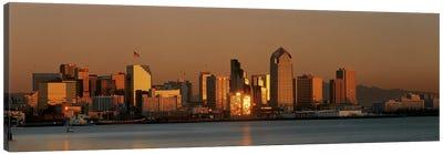 San Diego Skyline at Sunset Canvas Art Print