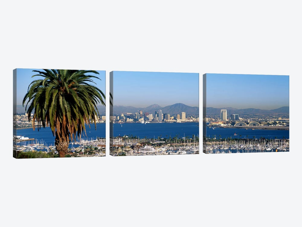 San Diego CA by Panoramic Images 3-piece Canvas Wall Art