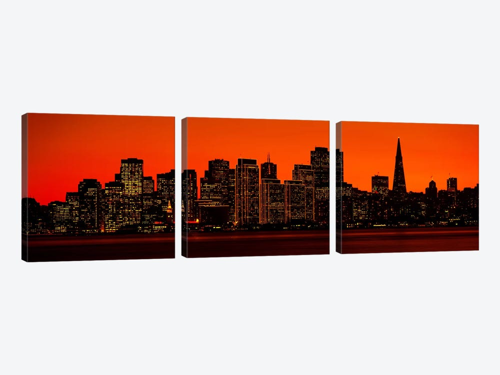 San Franscisco CA by Panoramic Images 3-piece Canvas Print