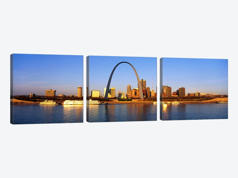 St. Louis Skyline by Panoramic Images 3-piece Canvas Artwork