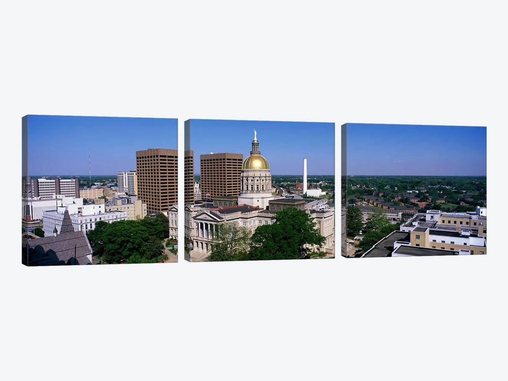 Atlanta GA by Panoramic Images 3-piece Canvas Wall Art