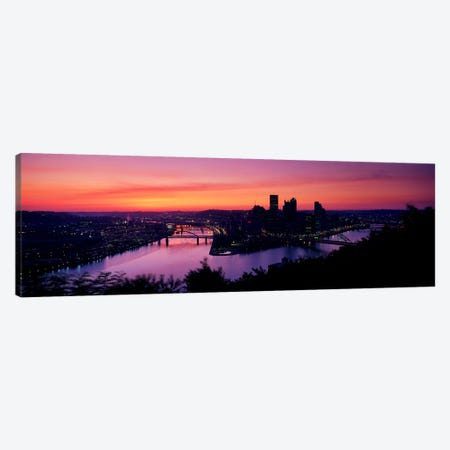 Pittsburgh PA Canvas Print #PIM3258} by Panoramic Images Art Print