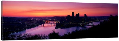 Pittsburgh PA Canvas Art Print