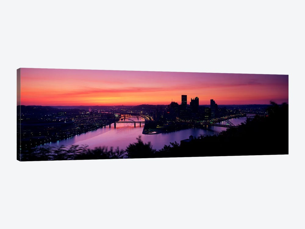 Pittsburgh PA 1-piece Canvas Wall Art