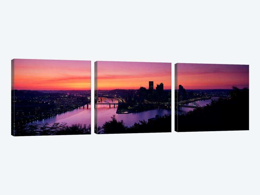Pittsburgh PA 3-piece Canvas Artwork