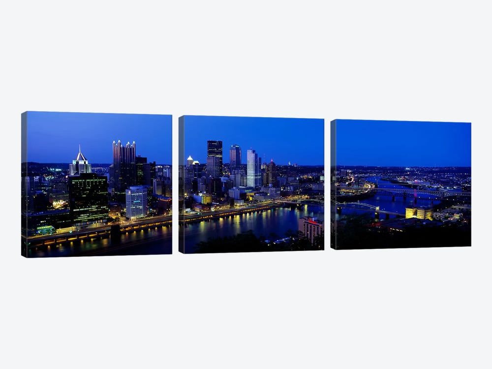 Pittsburgh PA #2 by Panoramic Images 3-piece Canvas Print
