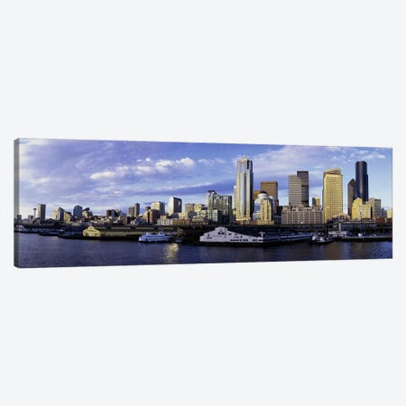 City at the waterfront, Seattle, Washington State, USA Canvas Print #PIM3260} by Panoramic Images Canvas Wall Art