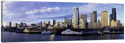 City at the waterfront, Seattle, Washington State, USA Canvas Art Print
